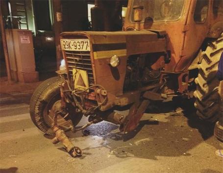 Hiện trường vụ tai nạn (ảnh: Bích Ngọc - otofun)