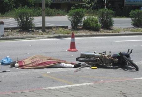 Hiện trường vụ tai nạn (ảnh: CTV cung cấp)
