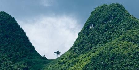 Núi Cao Sơn uốn lượn