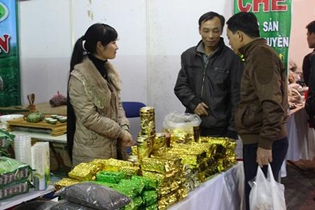 Đặc sản chè Thái Nguyên cũng góp mặt trong Hội chợ xuân