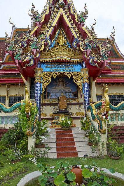 Ngôi đền nổi Wat Plai Laem ở đảo Koh Samui, Thái Lan