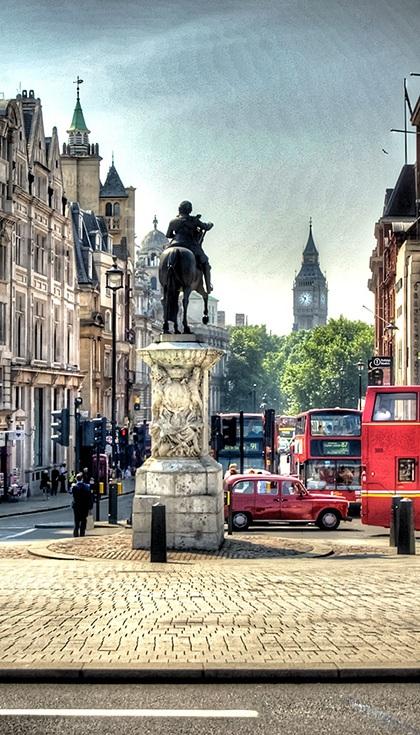 Bức tượng của Hoàng đế Charles I, London, Vương quốc Anh