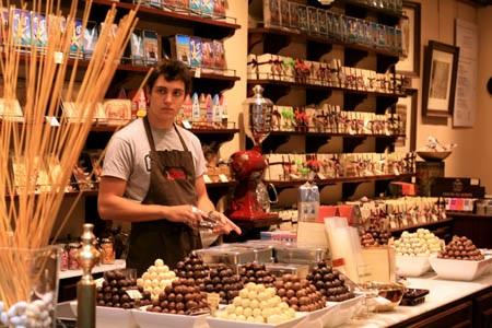 Một cửa hiệu socola ở Tây Ban Nha