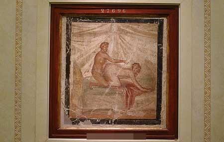 Bức tranh sơn dầu có từ những năm 50-79 sau Công nguyên