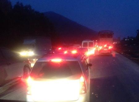 Quốc lộ 1 A cũ đoạn từ TP Vinh – Hà Tĩnh tắc từ chiều đến tối