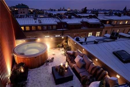 Tắm bồn gỗ mộc mạc ở Gothenburg, Thụy Điển