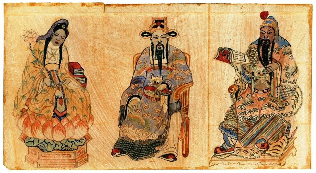 Một bức tranh khác được tìm thấy ở ngôi chùa tại Long Phước.