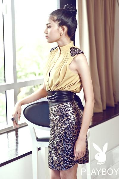 Trương Thị May long lanh sắc vóc cùng thời trang Playboy - 1