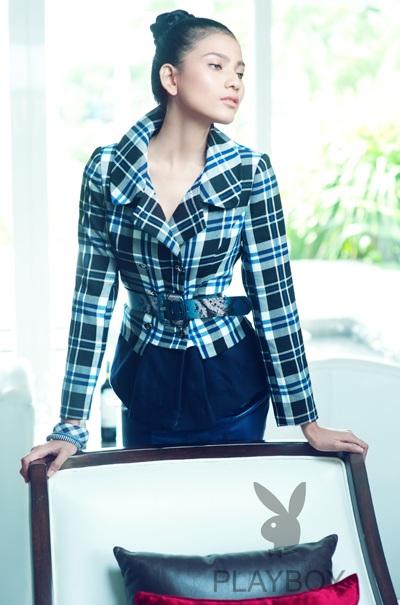 Trương Thị May long lanh sắc vóc cùng thời trang Playboy - 3