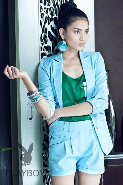 Trương Thị May long lanh sắc vóc cùng thời trang Playboy - 4