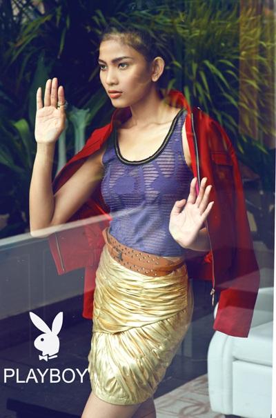 Trương Thị May long lanh sắc vóc cùng thời trang Playboy - 6