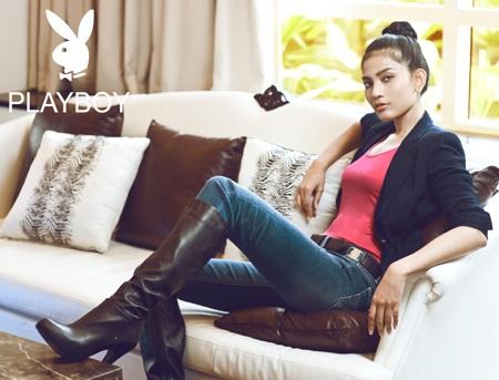 Trương Thị May long lanh sắc vóc cùng thời trang Playboy - 9