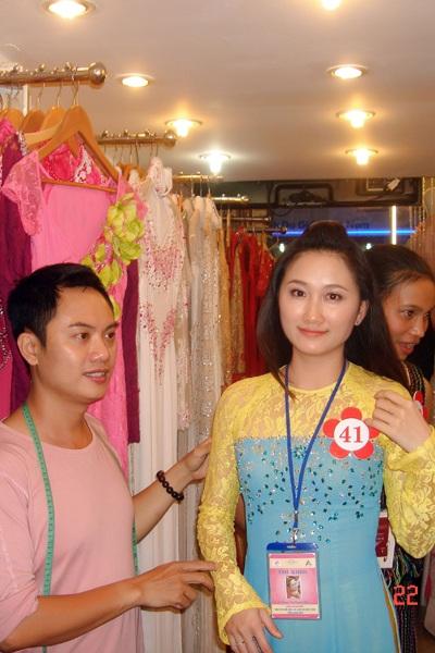 Thí sinh Hoa hậu các dân tộc Việt Nam thử áo dài - 2