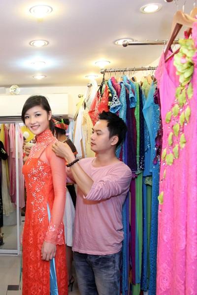 Thí sinh Hoa hậu các dân tộc Việt Nam thử áo dài - 3