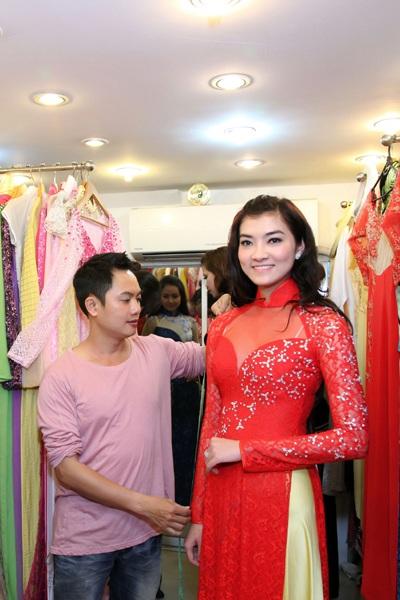 Thí sinh Hoa hậu các dân tộc Việt Nam thử áo dài - 4