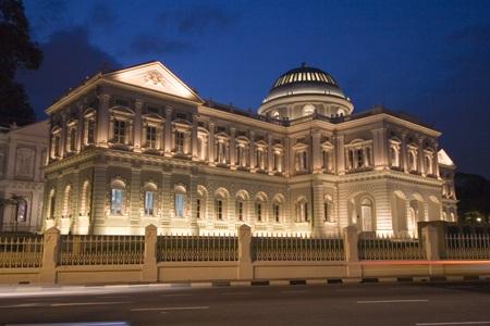 Bảo tàng quốc gia Singapore lung linh về đêm
