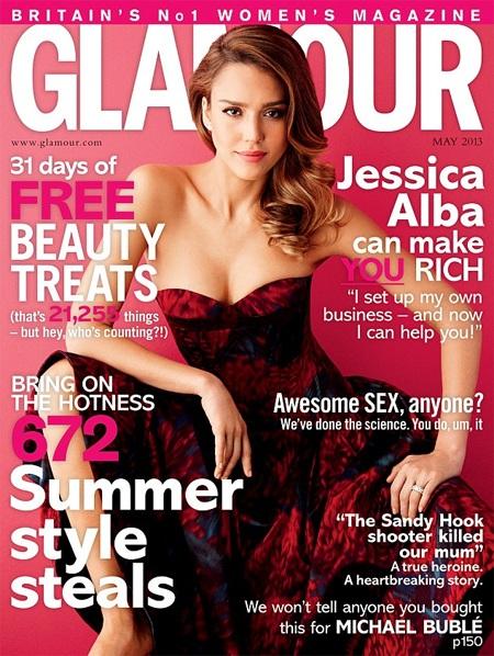 Jessica Alba trên bìa Glamour tháng 5/2013
