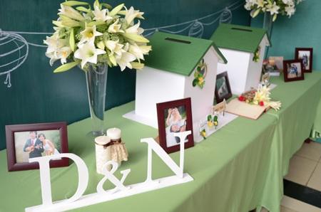 Hoa loa kèn trắng trang trí trong lễ cưới Tiến Dũng - Hồng Nga