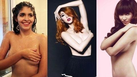 Andrea, Ngọc Quyên, Hồng Quế và những bức ảnh bán nude
