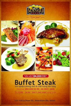 Thưởng thức Buffet với hơn 120 món ăn Âu Á đặc sắc chỉ với 188.000 đồng