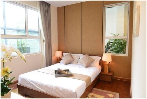 Nội thất thiết kế hợp lý, tạo thêm không gian cho căn hộ.