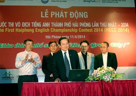 """Đồng chí Nguyễn Hữu Doãn đã chính thức ấn nút """"Khởi động trên hệ thống thi trực tuyến."""