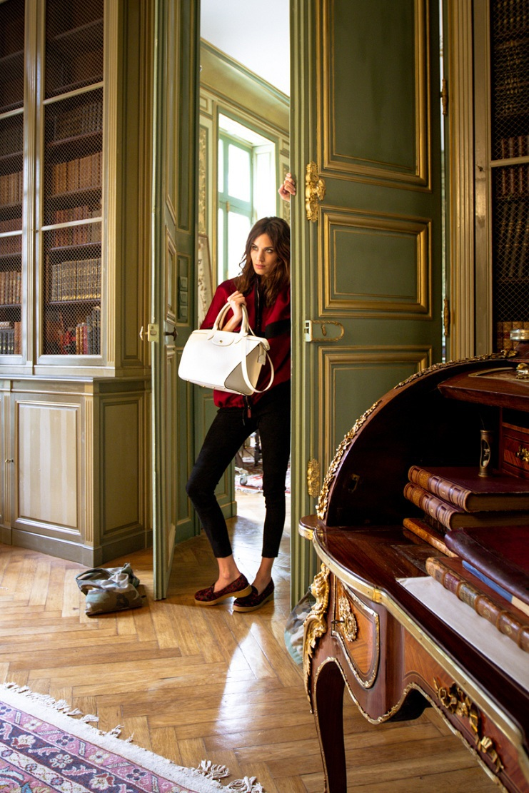 Alexa Chung và chiếc túi Le Pliage® Héritage