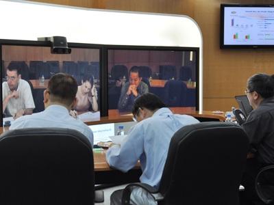 Ông Trương Đình Anh xuất hiện tại cuộc họp HĐQT của FPT hôm 29/8 (Ảnh: FPT).