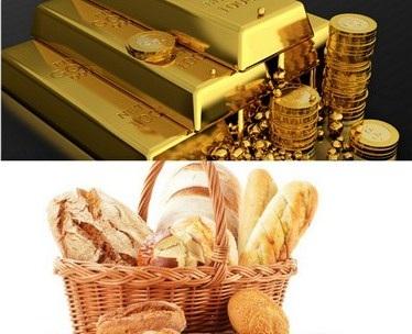 1 ounce vàng sẽ mua được 1 khối lượng bánh mỳ như nhau tại bất cứ thời điểm nào?