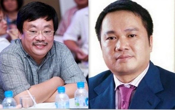 Ông Nguyễn Đăng Quang (trái) và ông Hồ Hùng Anh (phải).