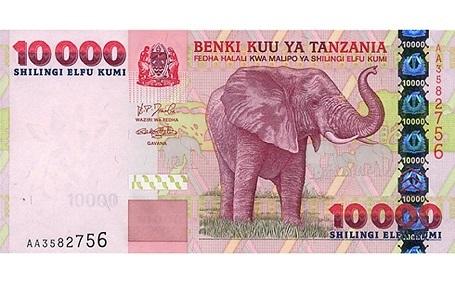 Tiền Shiling của Tazania.
