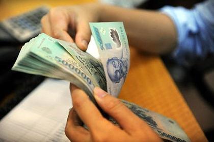 Lượng tiền đang rất dồi dào tại ngân hàng.