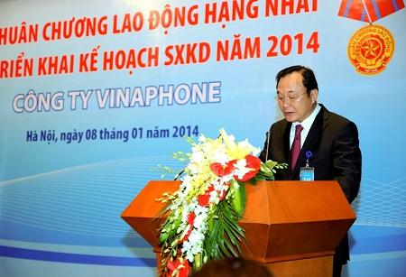Ông Trần Mạnh Hùng, Tổng giám đốc VNPT.