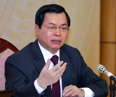 Bộ trưởng Bộ Công thương Vũ Huy Hoàng.