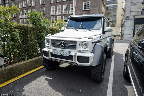Chiếc Mercedes AMG trị giá khoảng 400.000 bảng Anh thuộc sở hữu của