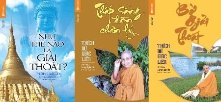 Bìa 3 cuốn sách vừa ra mắt của sư bà