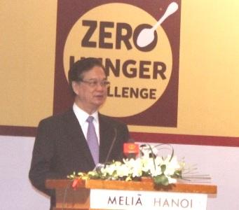 Thủ tướng Nguyễn Tấn Dũng phát biểu tại Lễ phát động (Ảnh: T. Nguyên)