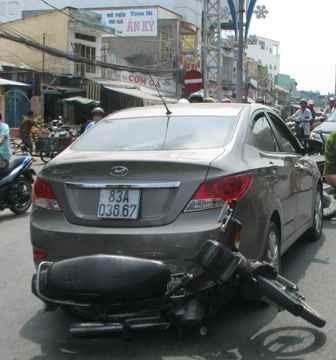 Cơ quan CSĐT công an quận Ninh Kiều đang tạm giữ chiếc xe để tiếp tục điều tra làm rõ
