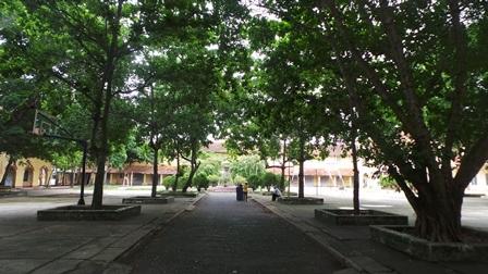 Ngôi trường trăm tuổi rợp bóng cây xanh