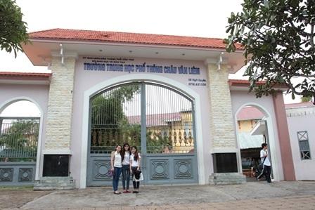 Trường THPT Châu Văn Liêm (TP Cần Thơ). Cổng trường này đã được xây mới trong những năm gần đây.