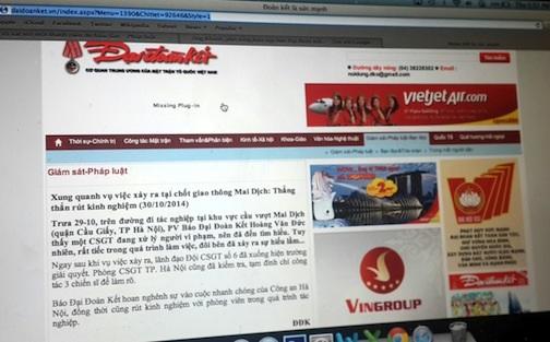 Nội dung bản tin được đăng tải trên báo điện tử Đại Đoàn Kết.