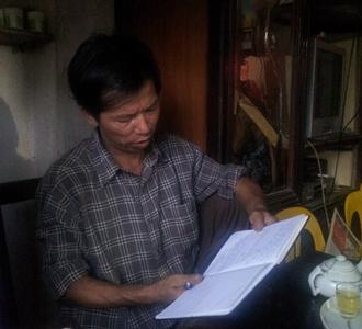 Ông Nguyễn Thanh Chấn, người chịu án oan trong suốt 10 năm trời.