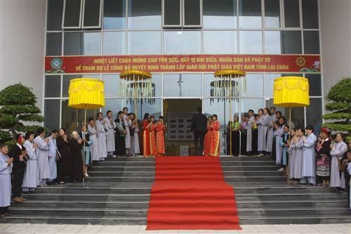 Buổi lễ thành lập và ra mắt Giáo hội Phật giáo Việt Nam tỉnh Lai Châu.