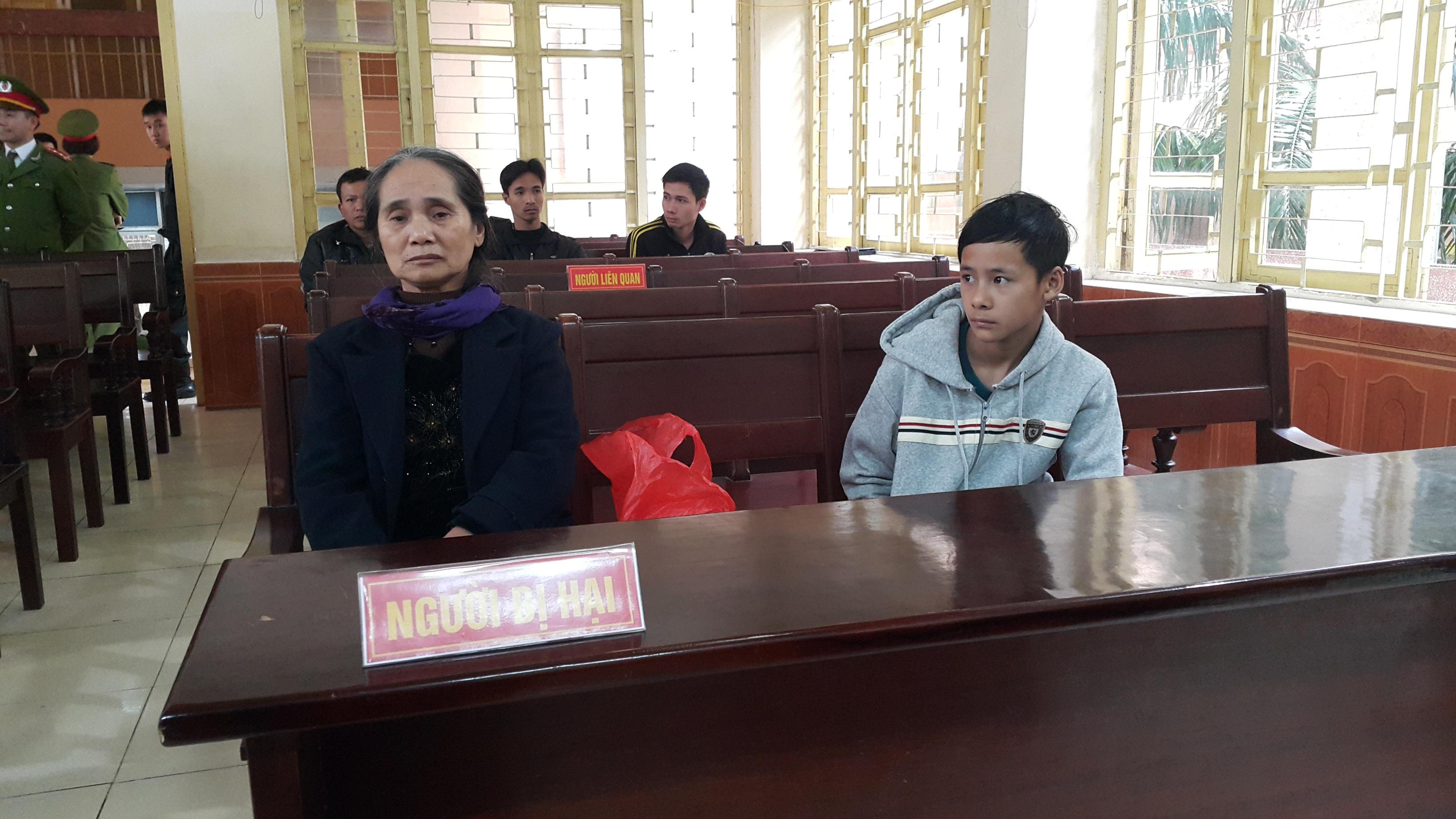 Bà Hoàng Thị Hội, đại diện bên bị hại trong vụ án.