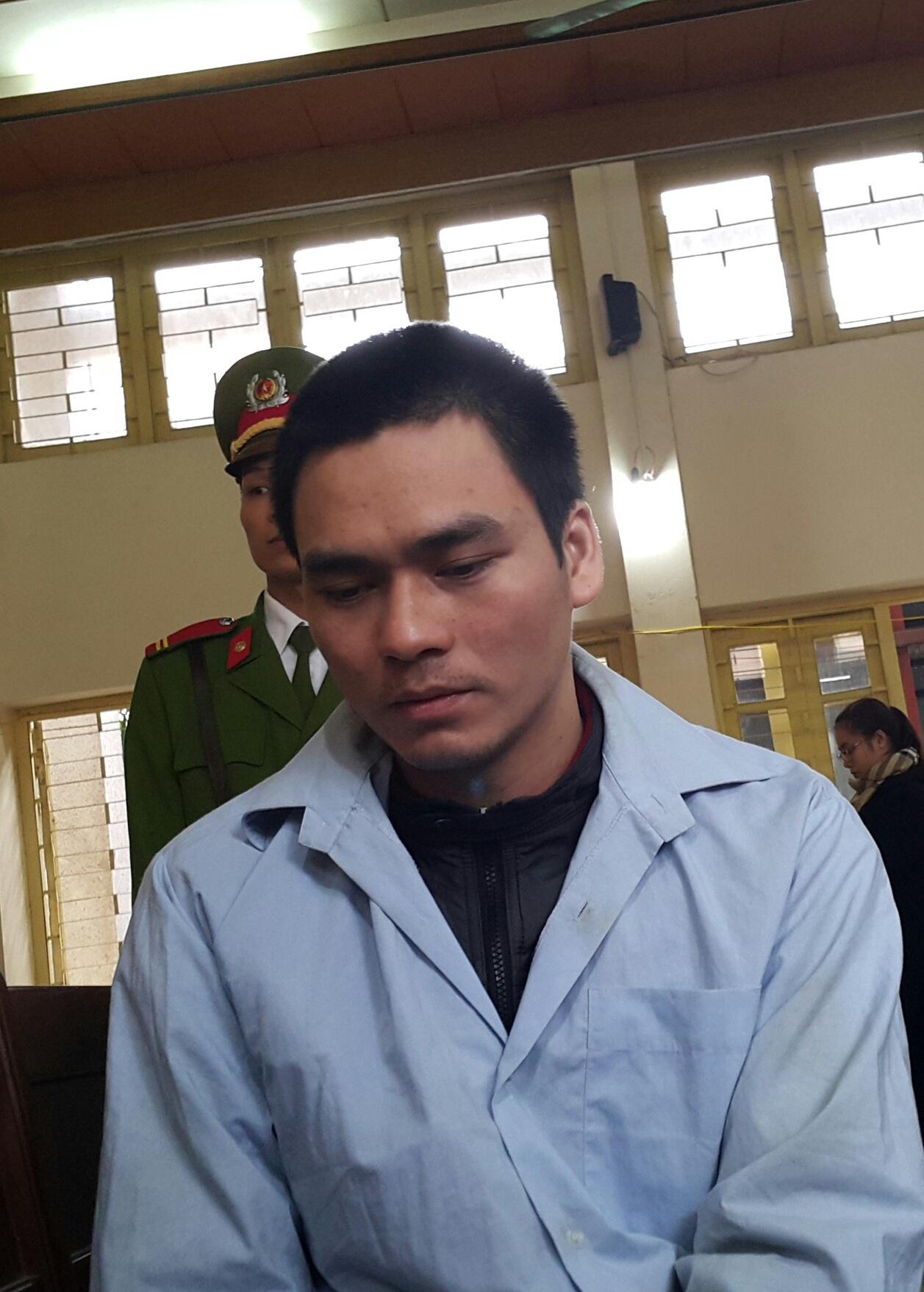Bị cáo Lý Nguyễn Chung tại phiên tòa sơ thẩm tỉnh Bắc Giang sáng ngày 9/3.