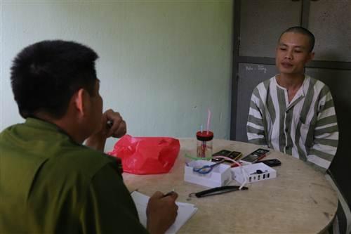 Cơ quan chức năng đang tiến hành lấy lời khai đối với đối tượng Hứa Thanh Tùng.