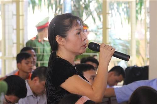 Bà Nguyễn Thị Thu Hà tại phiên tòa.