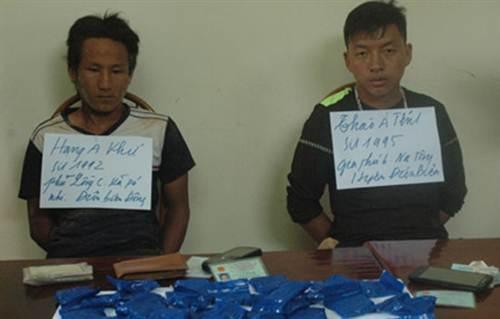 Hai đối tượng trong vụ vận chuyển 6.000 viên ma túy tổng hợp.