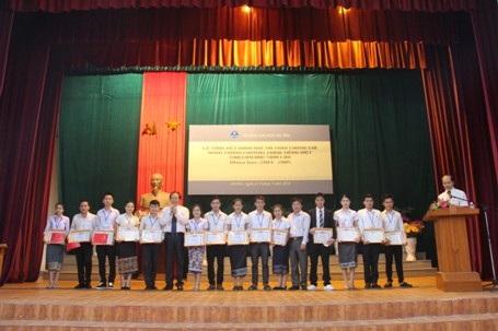 Khóa học 2014-2015 ban đầu có 623 em lưu học sinh Lào đến từ 10 tỉnh