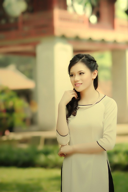 Vẻ đẹp dịu dàng của Võ Thị Thuỳ Trang.